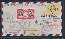 06290) KLM FF Amsterdam - Sofia 29.6.56, Reco ab Monaco R!