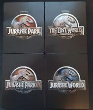 Jurassic Park Steelbooks, All Jurassic Park/World movies 4K Steelbooks (Like New