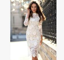 Women Lace Evening Party Bridesmaid Wedding Cocktail Prom Casual Dress New US-M