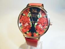 RED ROSE WATCH & RED STRAP - GUARANTEED + SPARE BATTERY- FREE UK P&P.....CG1050