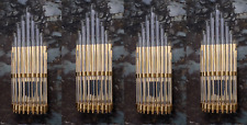 ARt DECO Style Brass & Glass Wall Lamp New Set of 4