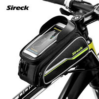 """Sireck MTB Mountain Road Bicycle Bike Front Frame Top Tube 6"""" Phone Holder Bag"""