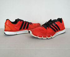 Adidas Adipure Techfit Red Black Running Shoes Mens 13 48 Training Athletics