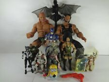 Assorted Action Figure Lot Captain America WWE How to train a dragon toothless