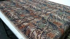 "Mossy Oak Seclusion 3D Flock Velvet Sueded Camo Upholstery Fabric 50"" W BTY Soft"