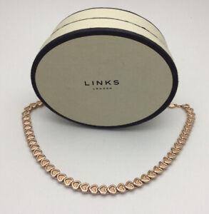 Links of London 18ct Rose Gold Vermeil Mini Endless Love Necklace UNWORN