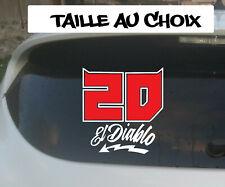 Sticker QUARTARARO Autocollant FABIO El Diablo Numero 20 moto GP