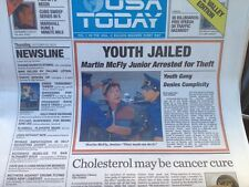 USA TODAY BACK TO THE FUTURE LIMITED EDITION 10-22-2015 Newspaper