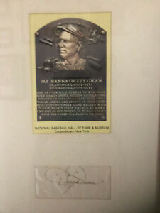 Dizzy Dean Hall of Fame Postcard with 3x5 autograph.