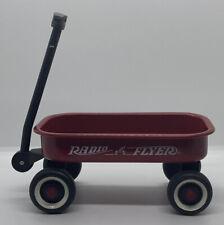 Vintage Radio Flyer Little Red Wagon Mini Toy Metal White Wall Tires 6.25 X 3.75