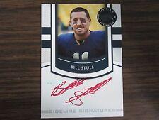 2010 Press Pass Bill Stull Autograph Card B8 University of Pittsburgh #2 of # 10