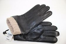 NWT BROOKS BROTHERS Size Small Men's Black Leather Tan Wool Blend 3 in 1 Glove