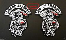2   GRIM REAPER   SONS OF ANARCHY  BIKER PATCHES   JACKET VEST HAT - IRON OR SEW