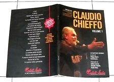 Spartiti + Dvd CLAUDIO CHIEFFO Volume 1 Songbook VOCAL CHORDS 2008 RnS