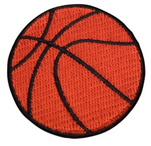 """Basketball Applique Patch - Sports Badge 2.25"""" (Iron on)"""