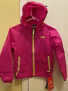 NEW NORTH FACE Wind Breaker JACKET w/attached Hood Girl Size S (7-8) *Pink