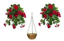 Buy allstate floral dried artificial flowers ebay 2 waterresistant 30 artificial geranium bush hanging basket silk flower plant mightylinksfo