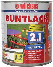 Wilckens Buntlack 2in1 silbergrau RAL 7001 seidenmatt 750 Ml