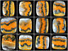 Natural Bumble Bee Jasper Top Quality Beautiful Huge Cabochon Gemstones