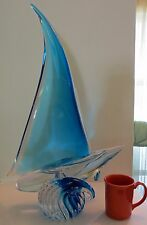 Extremely Large Sailboat Made By A.Bessi For The Sardinia Crystal Co, Italy