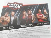 WWE Mattel Battle Pack Series 49:Miz&Bryan,Steph&Foley,Sheamus&Cesaro