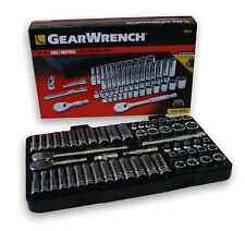 "GearWrench 3/8"" Drive Socket Set-Metric/SAE Standard Shallow & Deep KDT80550"