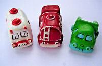 Lot of 3 Vintage Die cast toy 1975 WALLACE BERRIE cars/Ambulance, Tanker,Dumper