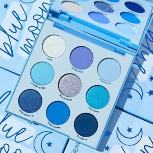 Colourpop Blue Moon 9 Pan Pressed Powder Eyeshadow Palette Duochrome Finish NIB