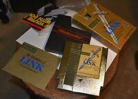 vintage GOLD Nintendo Zelda 2 video game Adventure of Link, box, poster, book