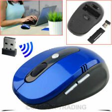 2.4GHz Wireless Cordless Mouse Optical Scroll For Laptop Computer with USB BLUE
