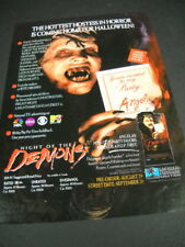 ANGELA Hottest Hostess In Horror ...Home For Halloween 1989 PROMO DISPLAY ADVERT