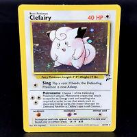 Clefairy - Base Set 2 6/130 - WoTC Holo Rare Pokemon Card 2000