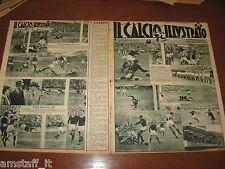 IL CALCIO ILLUSTRATO 1947/44=TORINO-JUVENTUS 1-1=TRIESTINA=ROMA=PALERMO=
