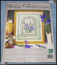 Elsa Williams Heritage IRIS MOSAIC Counted Cross Stitch Picture Kit – M. LeClair
