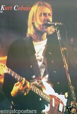 "Nirvana ""Kurt Cobain Singing & Playing Guitar"" Poster From Asia - Grunge Rock"