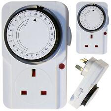 3 X RETE ELETTRONICO DIGITALE CON TIMER plug-in presa Quadrante Analogico Meccanico 24Hrs