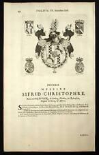 BARON SIEGFRIED CHRISTOPHE Blasons Heraldique 1667