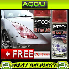 E-Tech Car Glass & Plastic Lens Tail Light Lamp RED Tint Tinting 150ml Spray Can