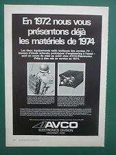 1972 PUB AVCO ELECTRONICS EMETTEUR RECEPTEUR AN/PRC -70 AN/URC-78 FRENCH AD