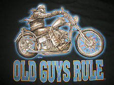 """New listing Old Guys Rule Motorcycle """" Easy Rider """" Panhead Harley Beach S/S T-Shirt Size L"""