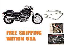 Detachable Motorcycle Saddlebags Brackets set  For Honda VF750C Magna Models New