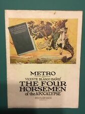 Antique Souvenir Album The Four Horsemen Of The Apocalypse 1921 Illustrated