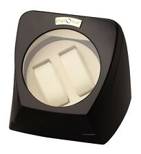 Double Watch Winder Diplomat Automatic Black