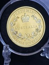 More details for australia 2018 gold proof double sovereign perth mint 22ct gold boxed with coa
