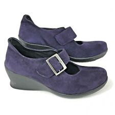 Wolky Mary Jane Purple 6.5 - 7 Buckle Wedge Shoes