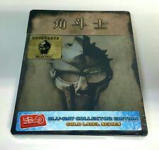 GLADIATOR Blu-ray STEELBOOK [HDZETA] 1/4 SLIP [CHINA] NEW / REGION FREE /OOS OOP