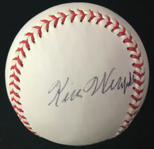 KEN WEAFER 1936 BOSTON BEES AUTOGRAPHED SIGNED RAWLINGS BASEBALL BAS BECKETT