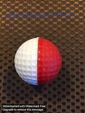 PING GOLF BALL/S-RED/WHITE EARLY PING...PRE-SALE...NO STAMP-RARE..NO LOGO...8/10