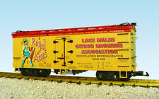 Usa Trains G Scale U.S. Reefer Car R16386 Royal Arms yellow/red