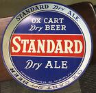 "Original Vintage ""Standard Ox Cart Dry Beer & Ale"" Metal Serving Tray Rochester"